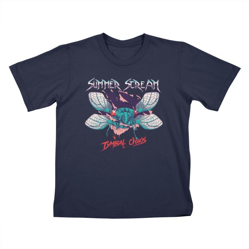 Summer Scream Kids T-Shirt by Hillary White Rabbit