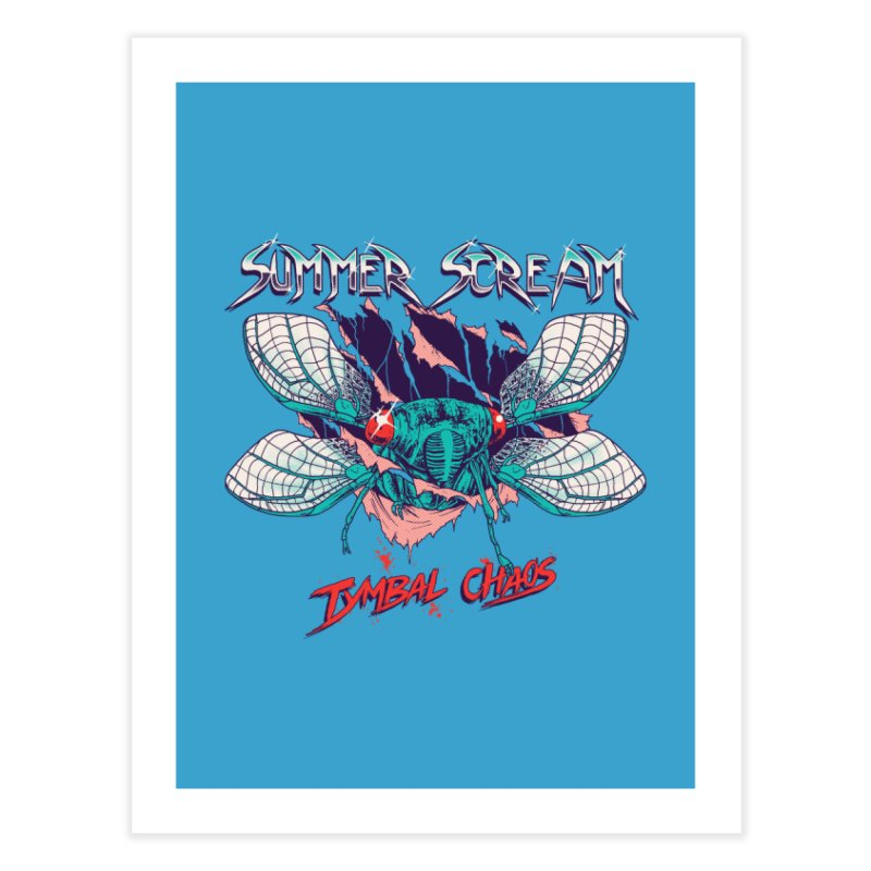Summer Scream Home Fine Art Print by Hillary White Rabbit