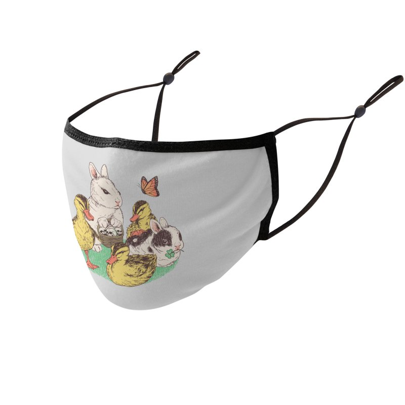 Bunnies and Duckies Accessories Face Mask by Hillary White Rabbit