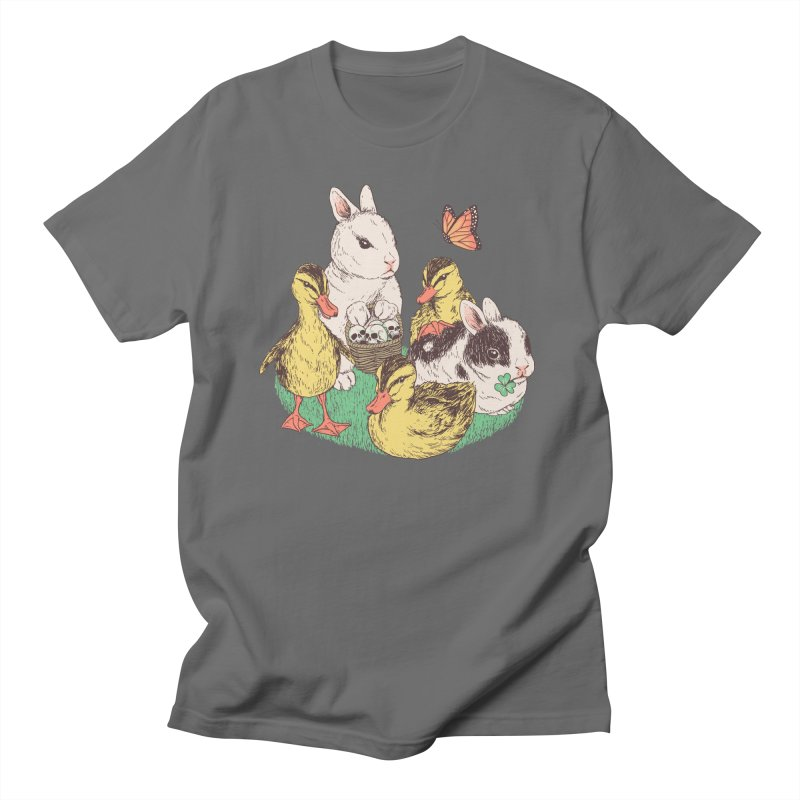 Bunnies and Duckies Men's T-Shirt by Hillary White Rabbit
