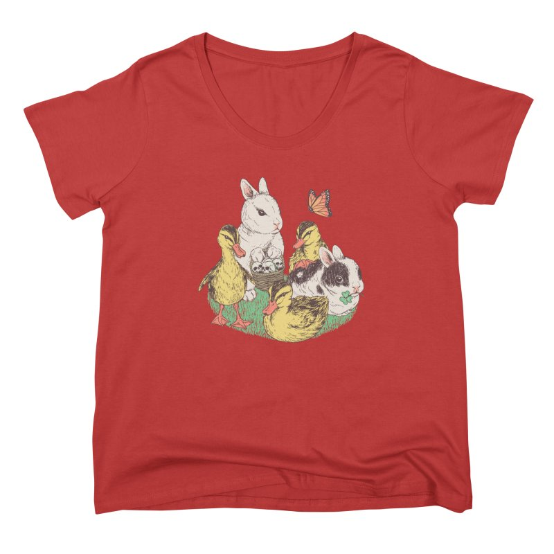 Bunnies and Duckies Women's Scoop Neck by Hillary White Rabbit