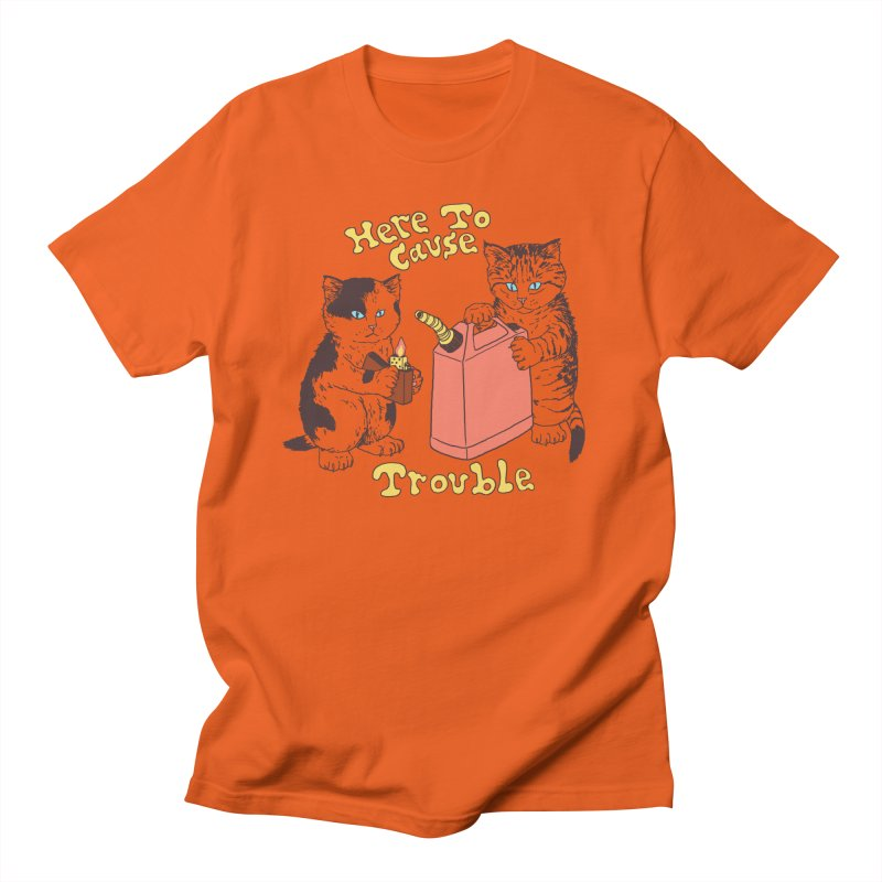 Here To Cause Trouble Men's T-Shirt by Hillary White Rabbit