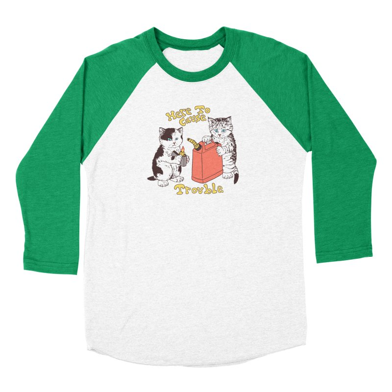Here To Cause Trouble Men's Longsleeve T-Shirt by Hillary White Rabbit