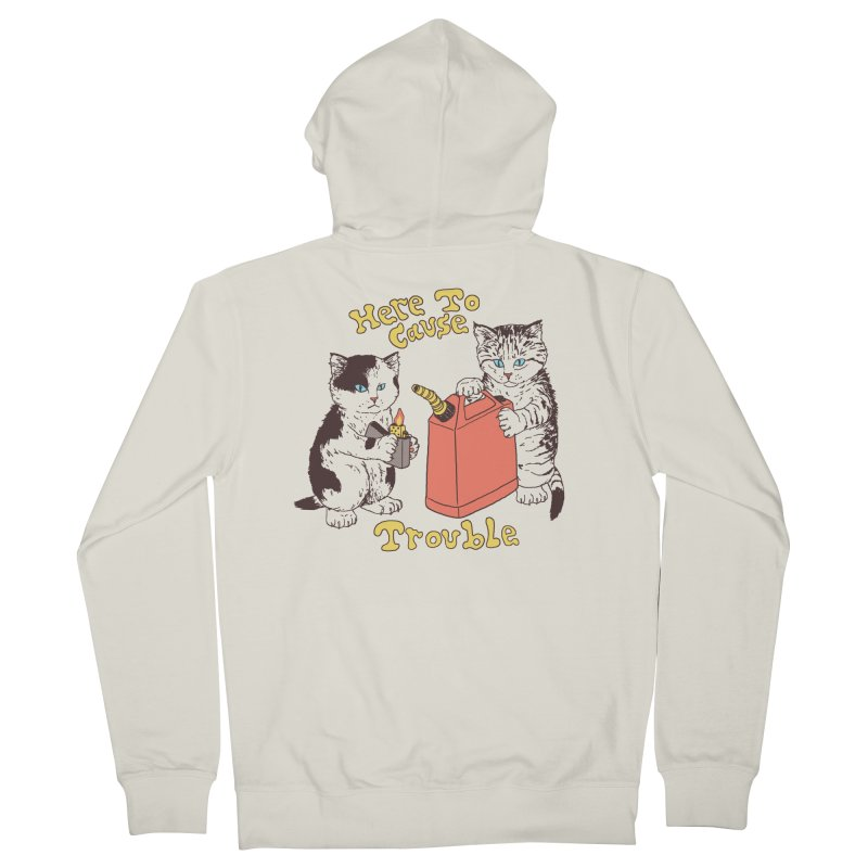 Here To Cause Trouble Men's Zip-Up Hoody by Hillary White Rabbit