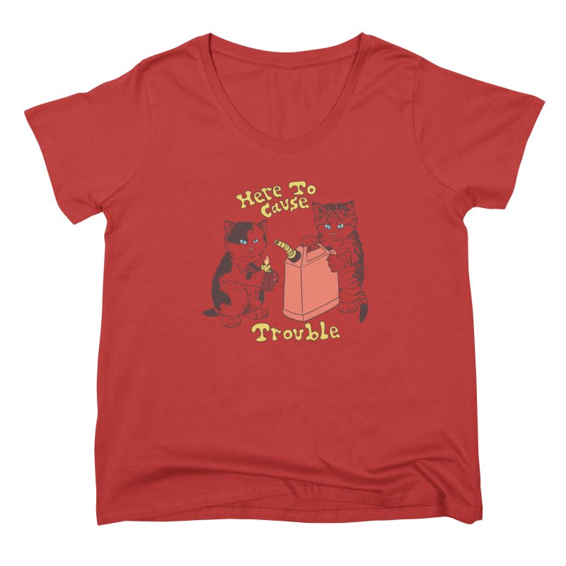 Here To Cause Trouble Women's Scoop Neck by Hillary White Rabbit
