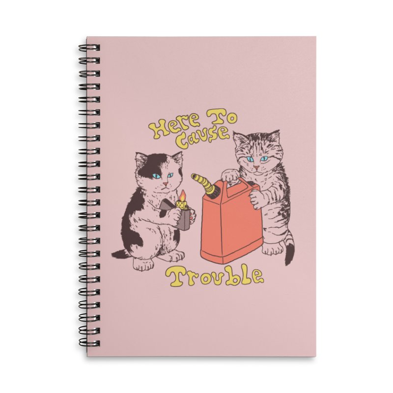 Here To Cause Trouble Accessories Notebook by Hillary White Rabbit