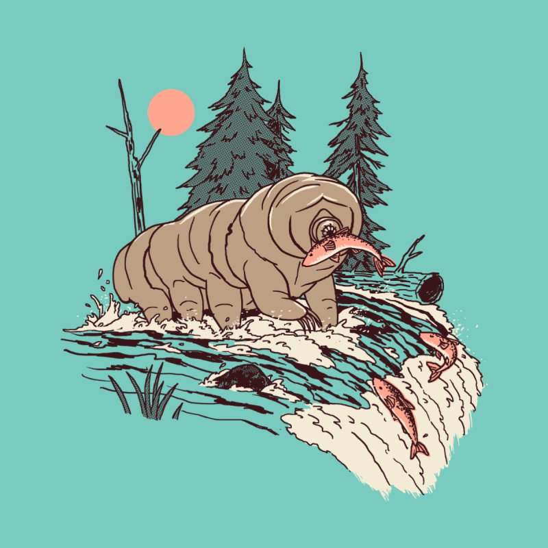 Water Bear Home Mounted Aluminum Print by Hillary White Rabbit