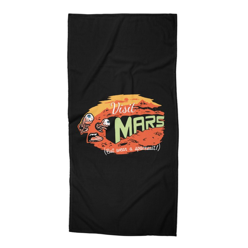 Get To Mars Accessories Beach Towel by Hillary White Rabbit