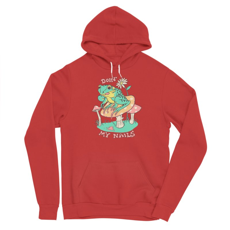 Doin' My Nails Men's Pullover Hoody by Hillary White Rabbit