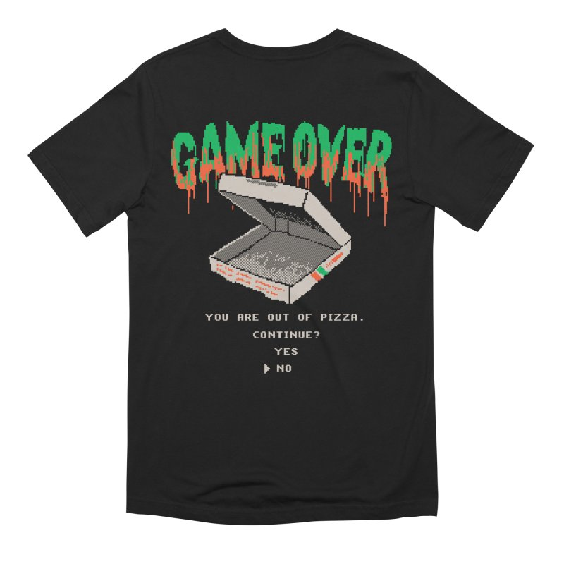 8-bit Pizza Games Men's T-Shirt by Hillary White Rabbit