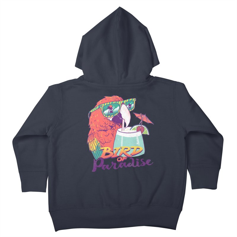 Bird of Paradise Kids Toddler Zip-Up Hoody by hillarywhiterabbit's Artist Shop