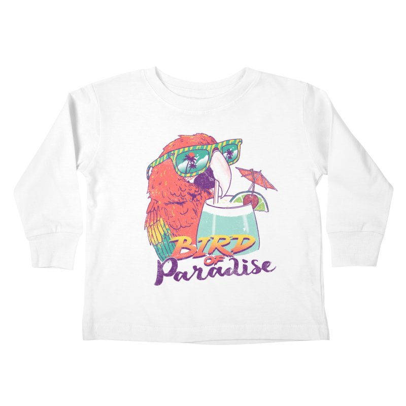 Bird of Paradise Kids Toddler Longsleeve T-Shirt by hillarywhiterabbit's Artist Shop