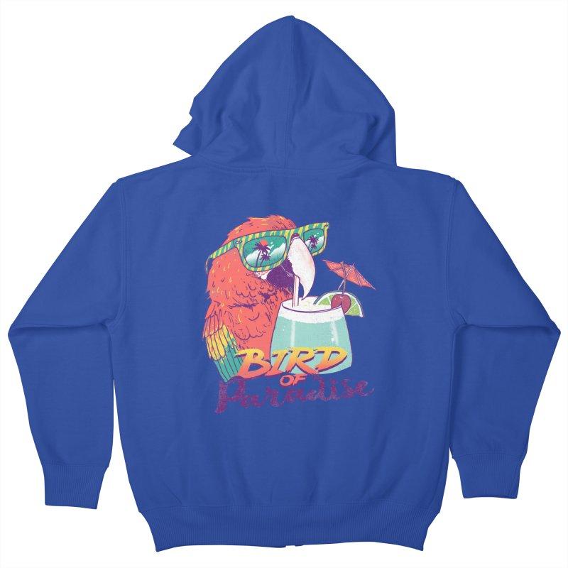 Bird of Paradise Kids Zip-Up Hoody by hillarywhiterabbit's Artist Shop