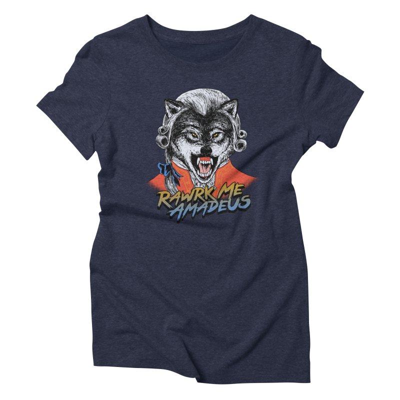 Rawrk Me Amadeus Women's Triblend T-shirt by hillarywhiterabbit's Artist Shop