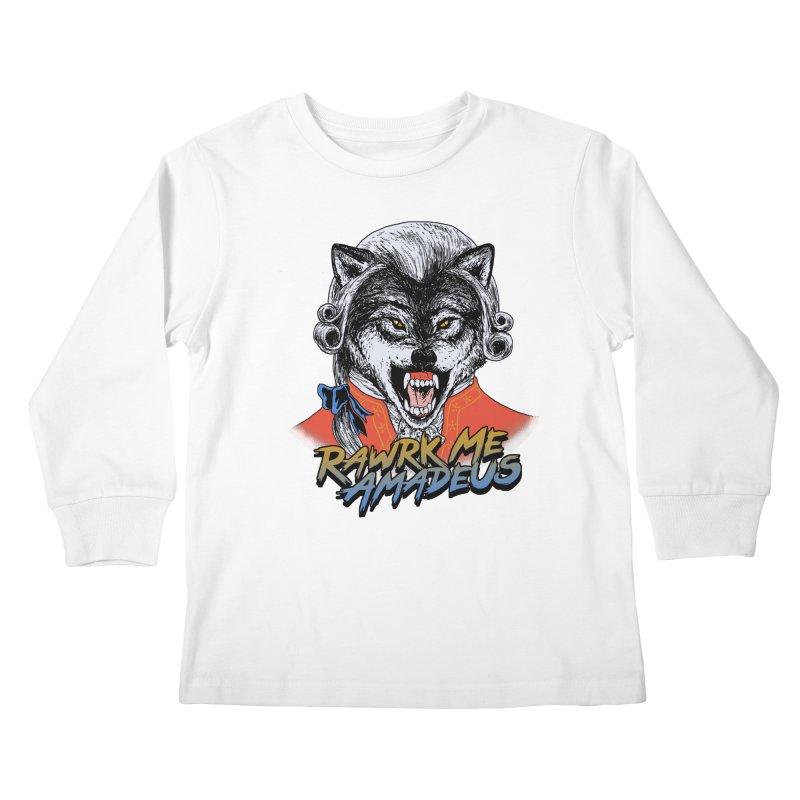 Rawrk Me Amadeus Kids Longsleeve T-Shirt by hillarywhiterabbit's Artist Shop