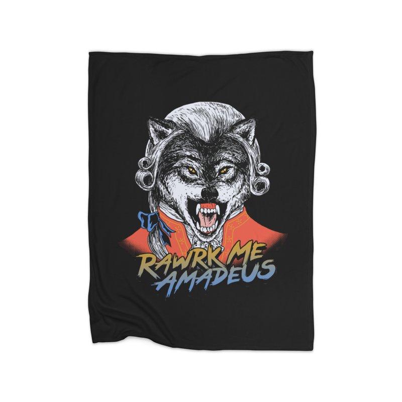 Rawrk Me Amadeus Home Blanket by hillarywhiterabbit's Artist Shop