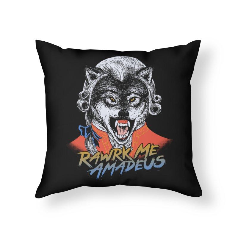 Rawrk Me Amadeus Home Throw Pillow by hillarywhiterabbit's Artist Shop