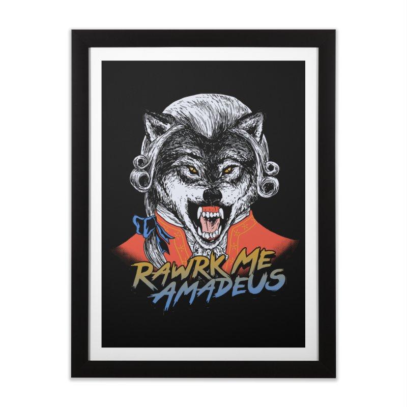 Rawrk Me Amadeus Home Framed Fine Art Print by hillarywhiterabbit's Artist Shop
