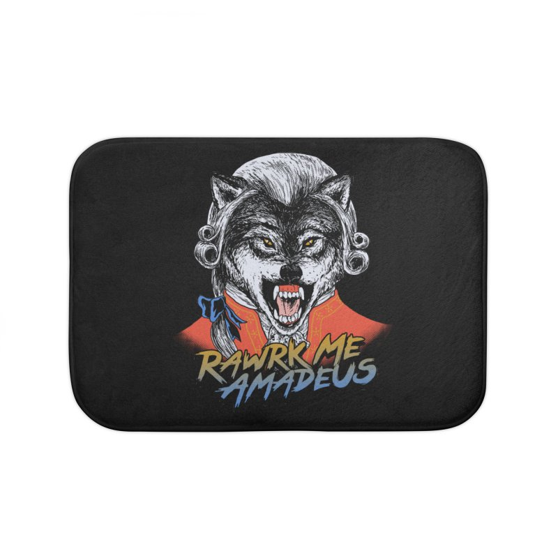 Rawrk Me Amadeus Home Bath Mat by hillarywhiterabbit's Artist Shop