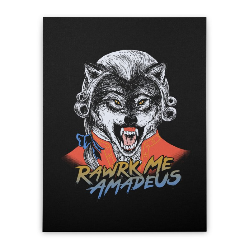 Rawrk Me Amadeus Home Stretched Canvas by hillarywhiterabbit's Artist Shop