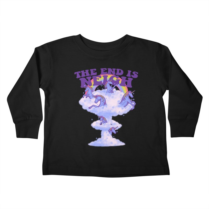 The End Is Neigh Kids Toddler Longsleeve T-Shirt by hillarywhiterabbit's Artist Shop