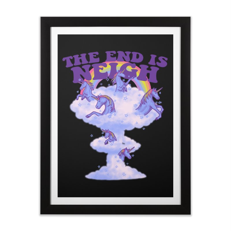 The End Is Neigh Home Framed Fine Art Print by hillarywhiterabbit's Artist Shop