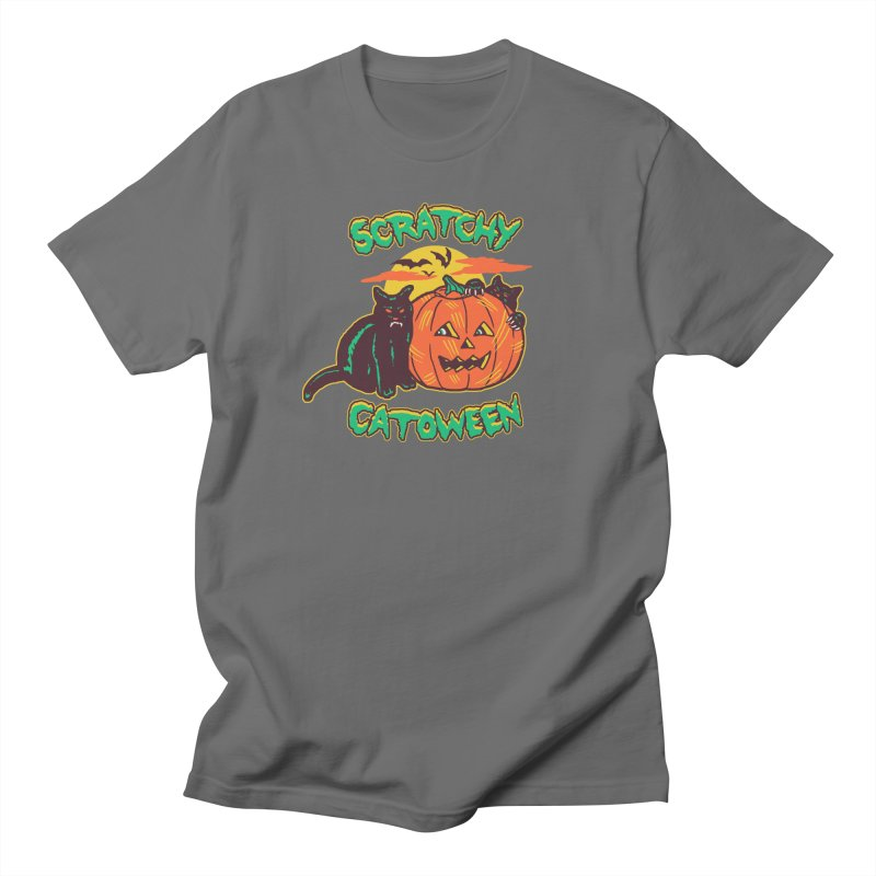 Scratchy Catoween Men's T-Shirt by Hillary White Rabbit