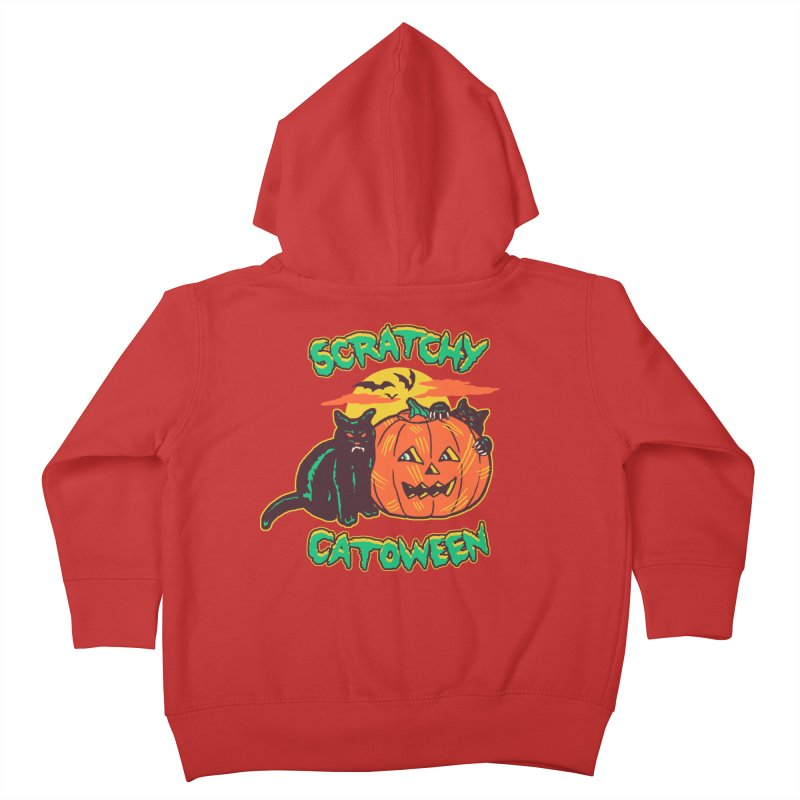 Scratchy Catoween Kids Toddler Zip-Up Hoody by Hillary White Rabbit