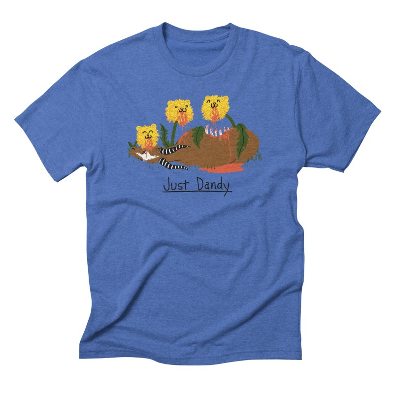 Dandelions Men's Triblend T-shirt by hillarywhiterabbit's Artist Shop