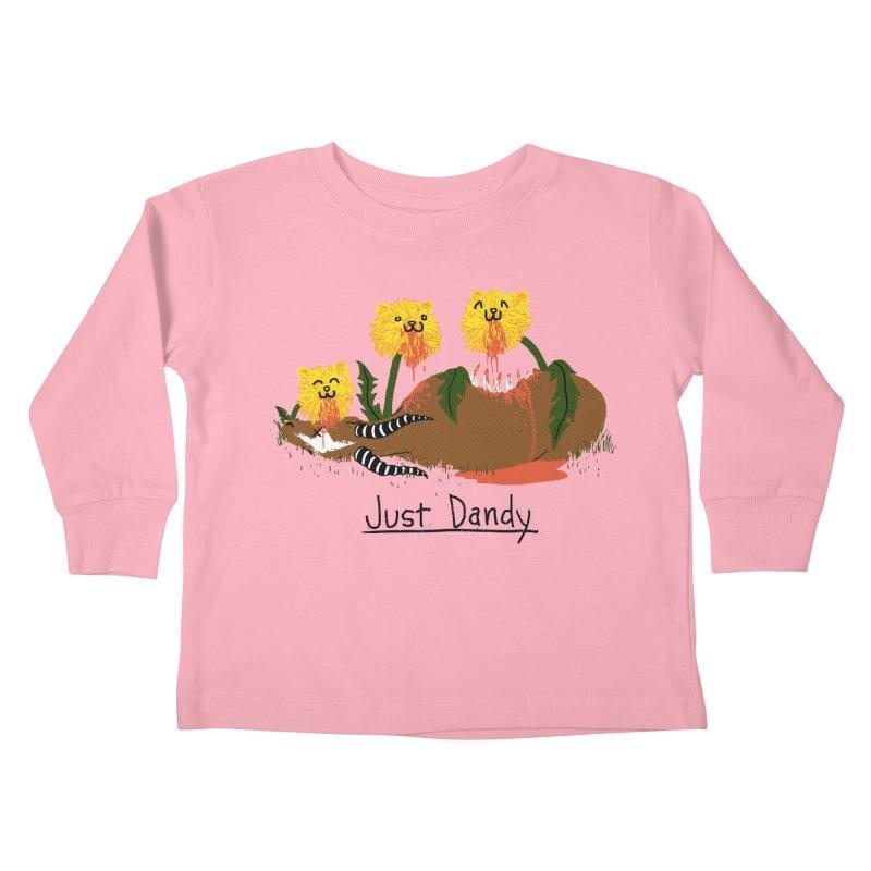Dandelions Kids Toddler Longsleeve T-Shirt by hillarywhiterabbit's Artist Shop