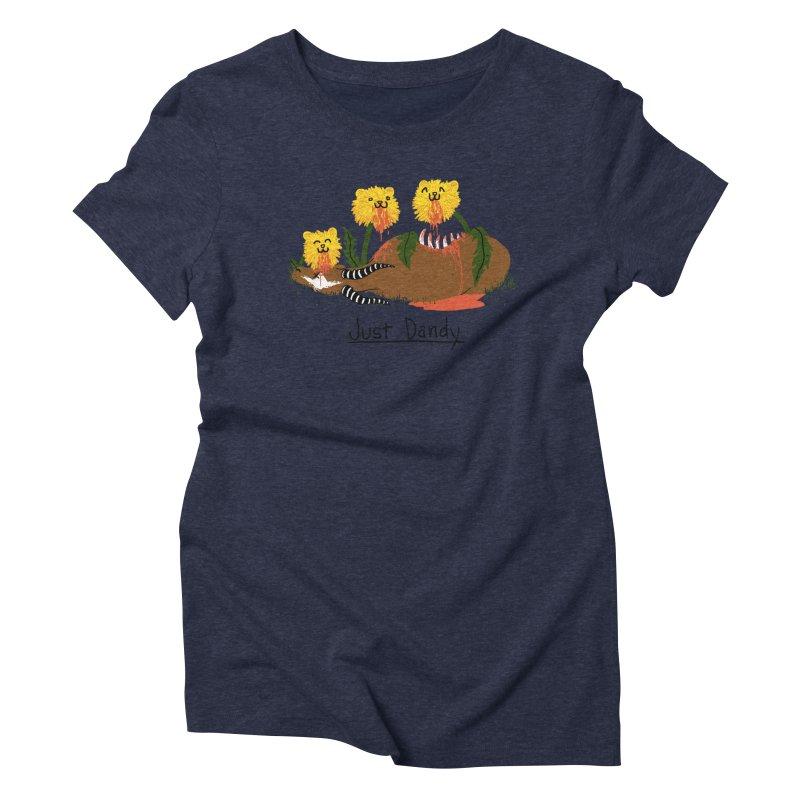 Dandelions Women's Triblend T-shirt by hillarywhiterabbit's Artist Shop