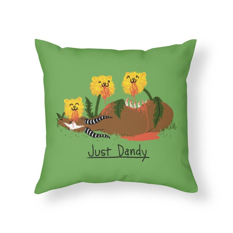 Dandelions Home Throw Pillow by hillarywhiterabbit's Artist Shop