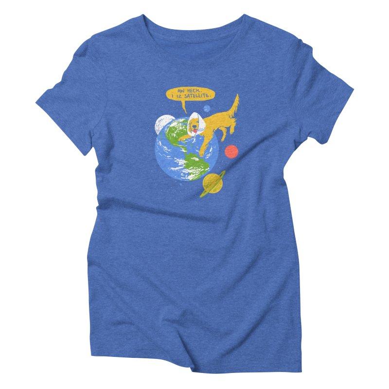 Golden Receiver Women's Triblend T-shirt by hillarywhiterabbit's Artist Shop