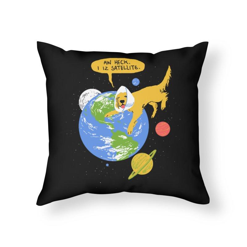 Golden Receiver Home Throw Pillow by hillarywhiterabbit's Artist Shop