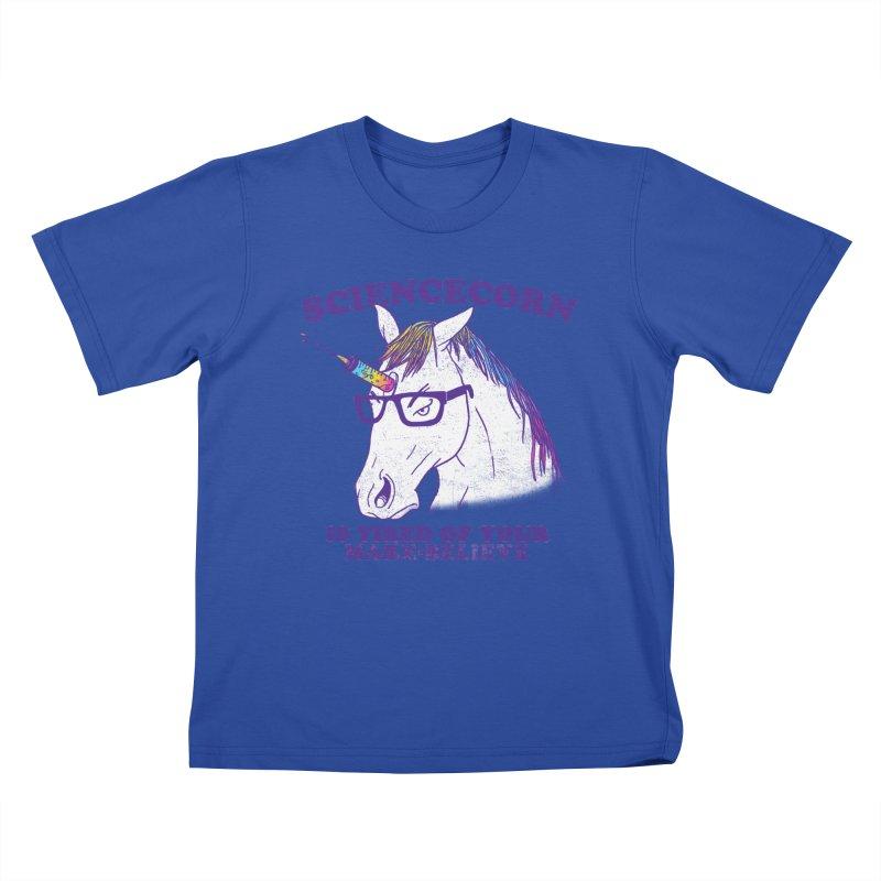 Sciencecorn Kids T-shirt by hillarywhiterabbit's Artist Shop