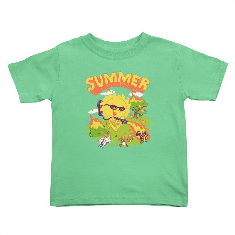 Summer Kids Toddler T-Shirt by hillarywhiterabbit's Artist Shop
