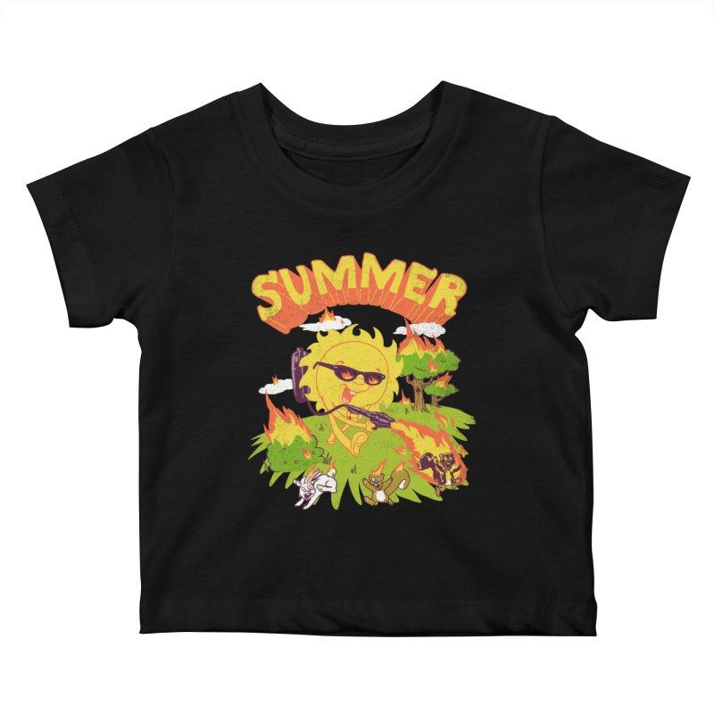 Summer Kids Baby T-Shirt by hillarywhiterabbit's Artist Shop