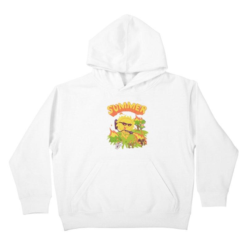 Summer Kids Pullover Hoody by hillarywhiterabbit's Artist Shop