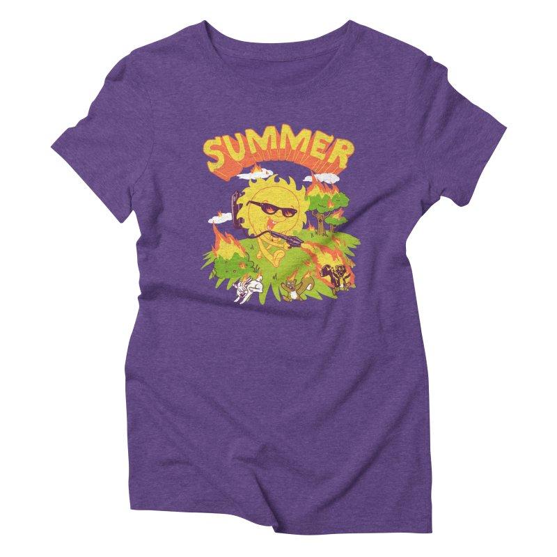 Summer Women's Triblend T-shirt by hillarywhiterabbit's Artist Shop