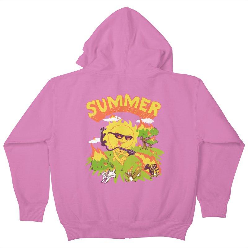 Summer Kids Zip-Up Hoody by hillarywhiterabbit's Artist Shop