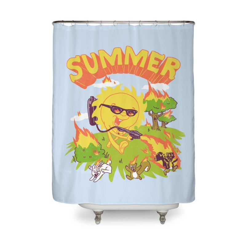 Summer Home Shower Curtain by hillarywhiterabbit's Artist Shop
