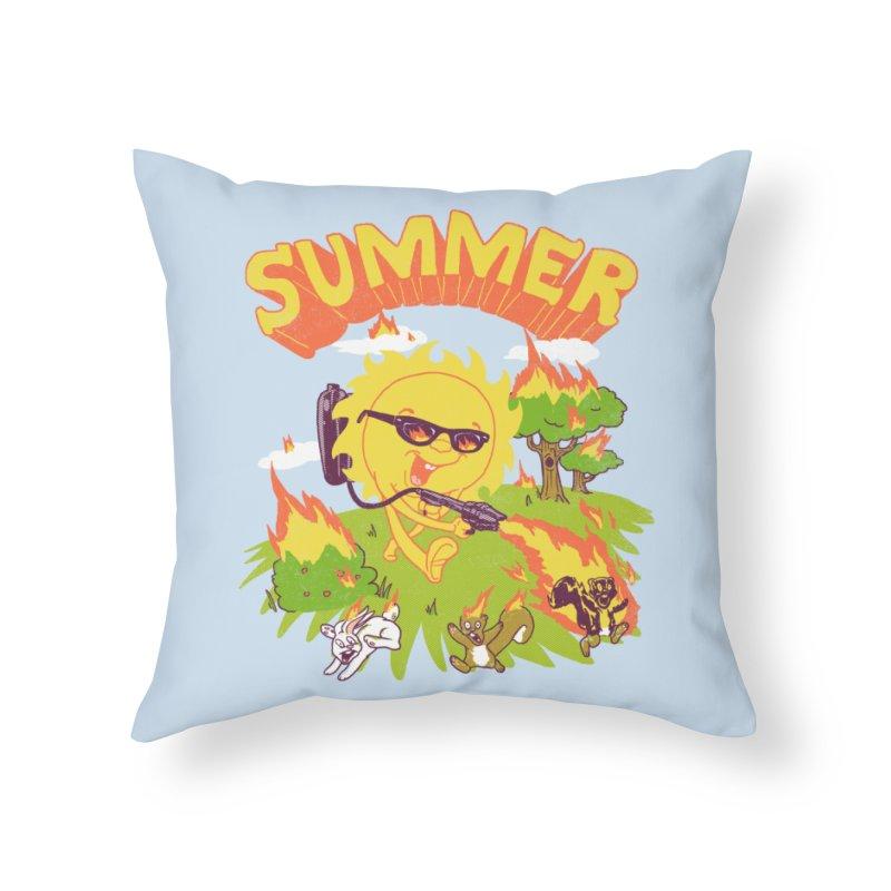 Summer Home Throw Pillow by hillarywhiterabbit's Artist Shop