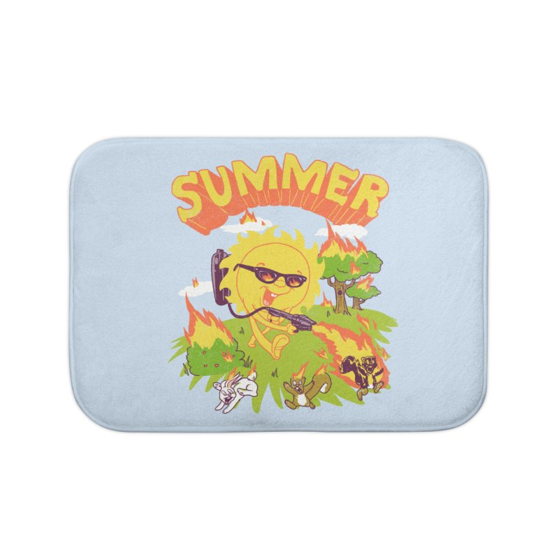 Summer Home Bath Mat by hillarywhiterabbit's Artist Shop