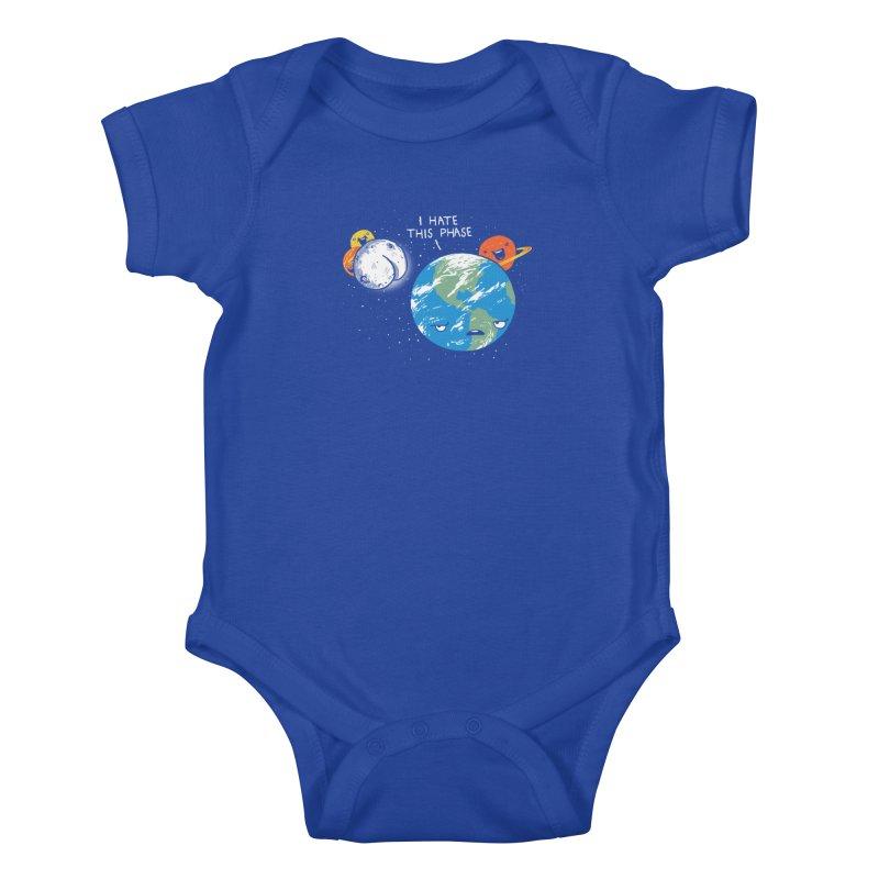 Full Moon Kids Baby Bodysuit by hillarywhiterabbit's Artist Shop