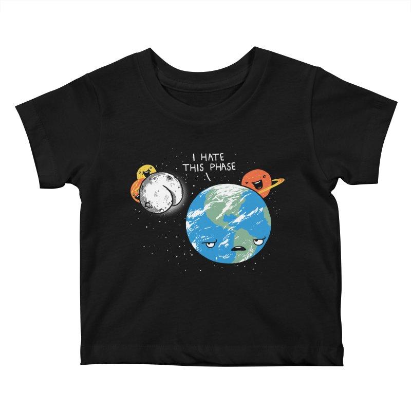 Full Moon Kids Baby T-Shirt by hillarywhiterabbit's Artist Shop
