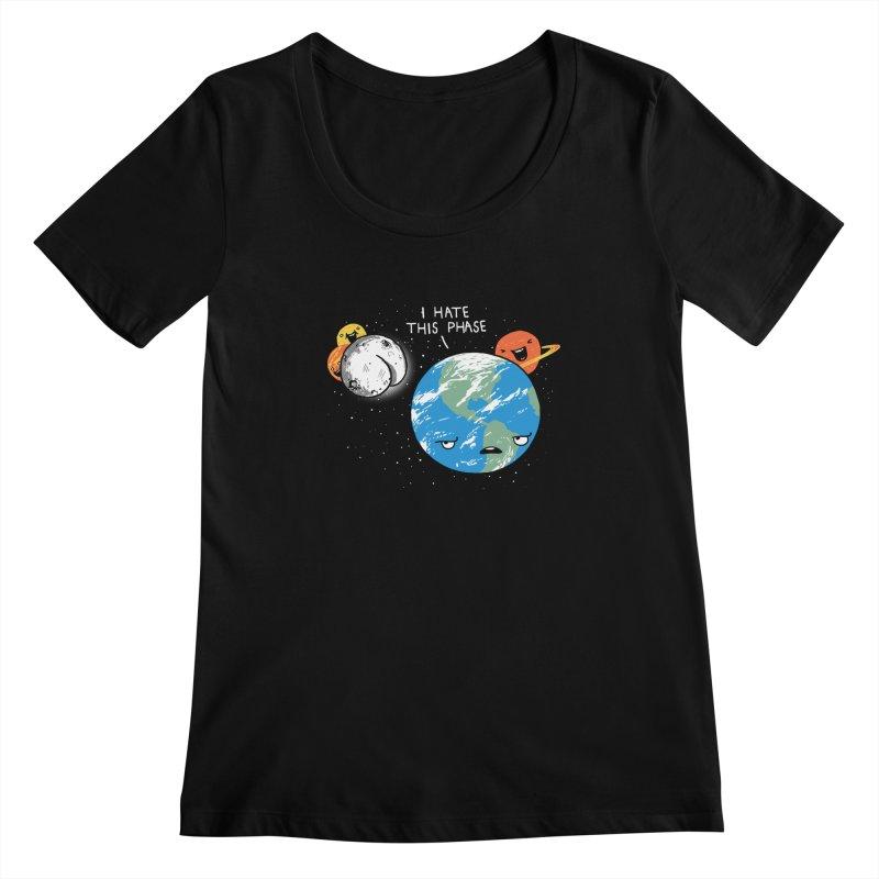 Full Moon Women's Scoopneck by hillarywhiterabbit's Artist Shop