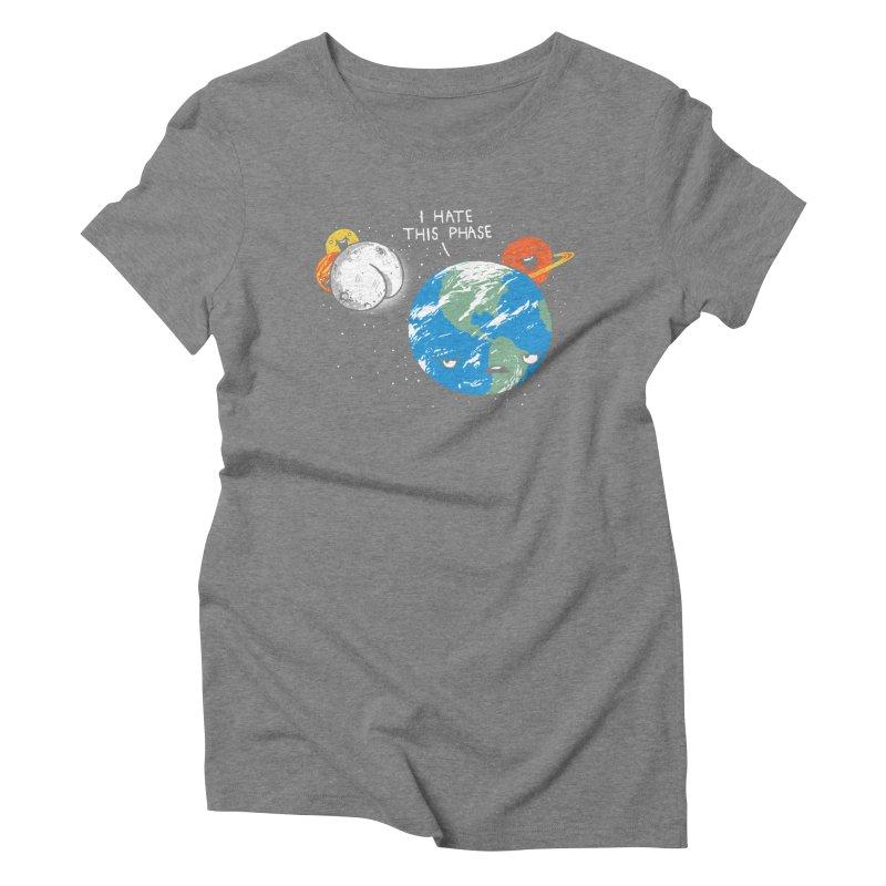 Full Moon Women's Triblend T-shirt by hillarywhiterabbit's Artist Shop