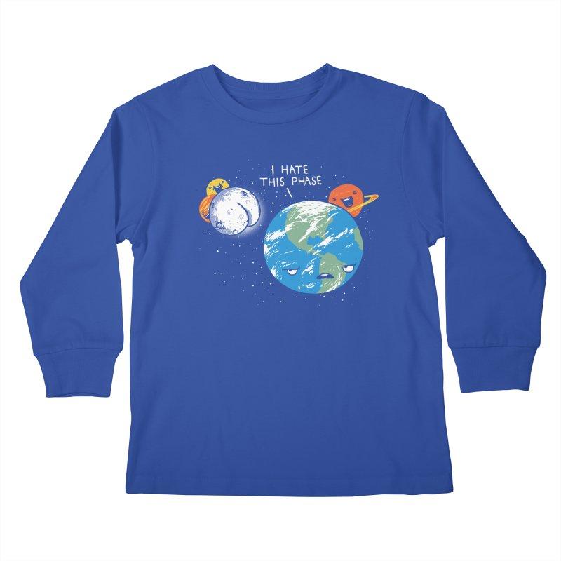 Full Moon Kids Longsleeve T-Shirt by hillarywhiterabbit's Artist Shop
