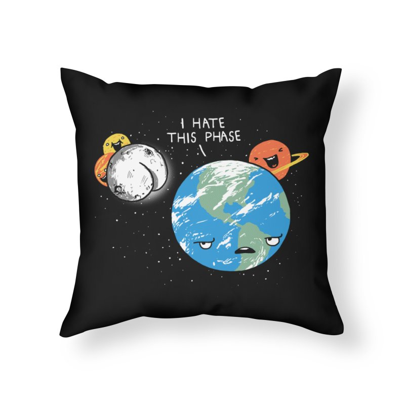 Full Moon Home Throw Pillow by hillarywhiterabbit's Artist Shop