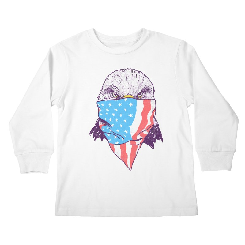 Bald Bandit Kids Longsleeve T-Shirt by hillarywhiterabbit's Artist Shop